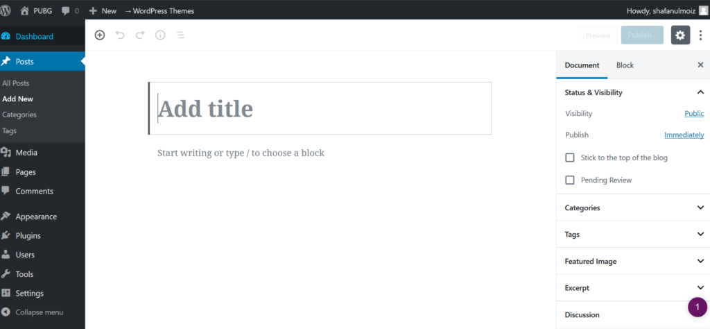 Writing-Posts-in-Wordpress-Blog